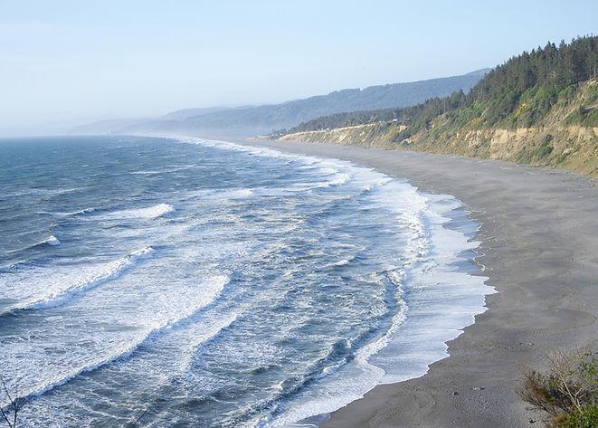 Agate Beach at Patricks Point State Park. Rugged Northern California coastline