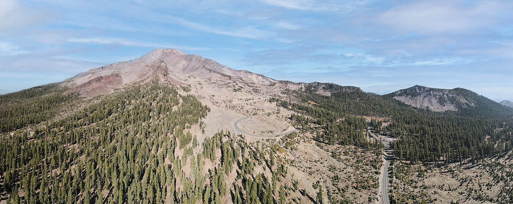 Panoramic Drone View of Mt Shasta California