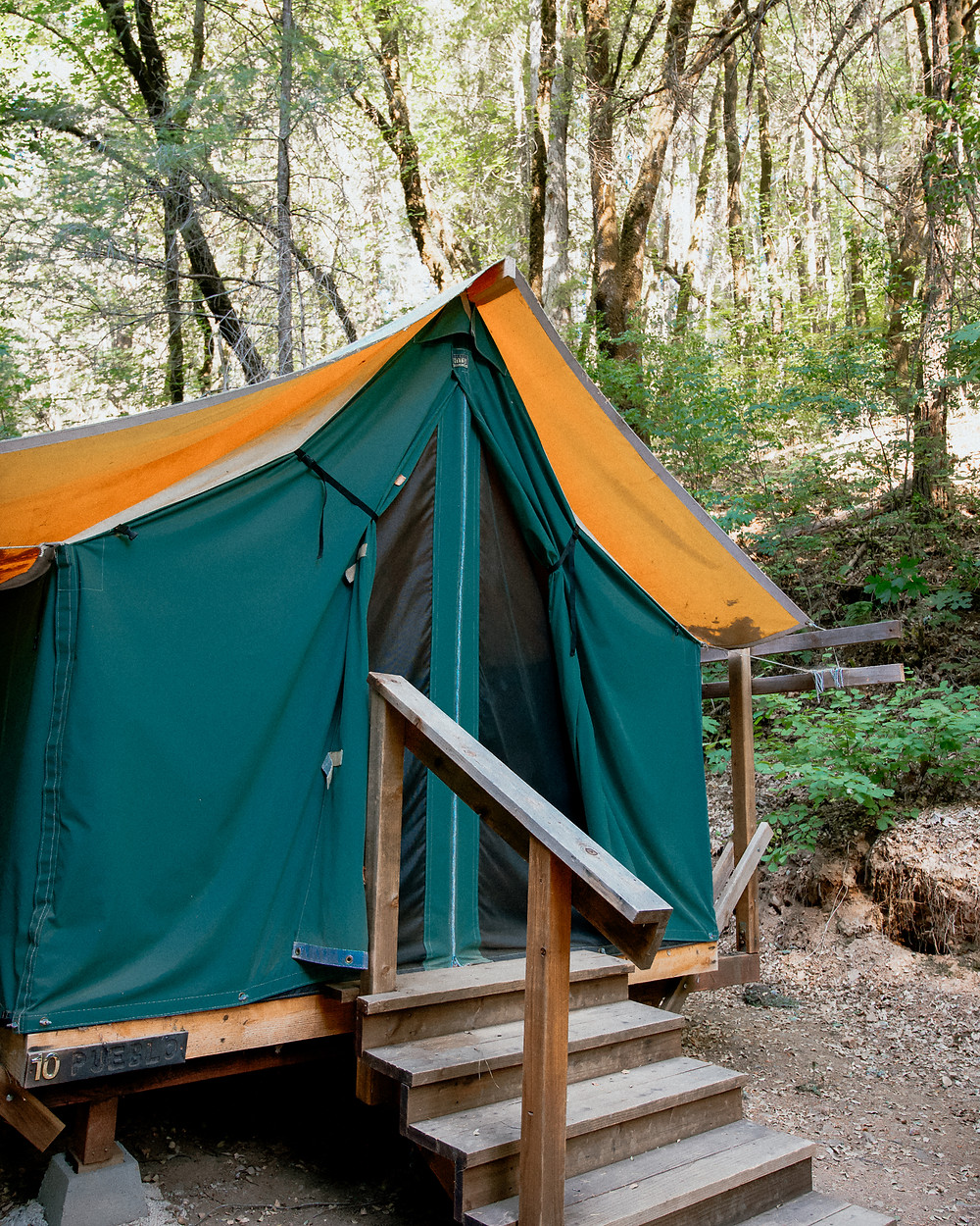 Camp Nauvoo Glamping Tents in Placerville California