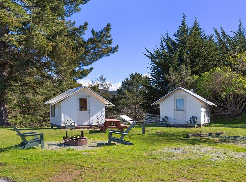 glamping tent bungalows costanoa resort california