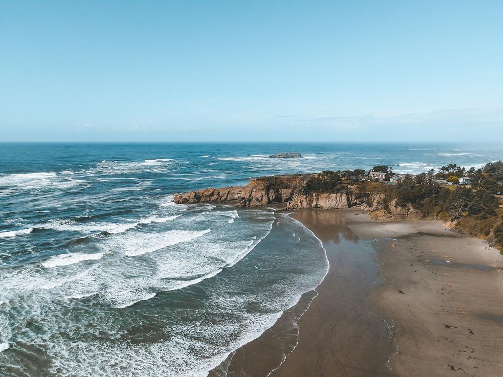 Oregon Coastline near Newport, Oregon