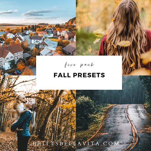 5 Fall Photo Filters - Lightroom MOBILE + DESKTOP