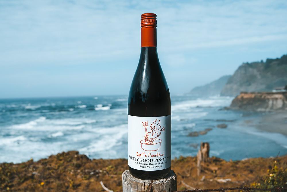 Wine tasting near Newport, Oregon with Ocean views