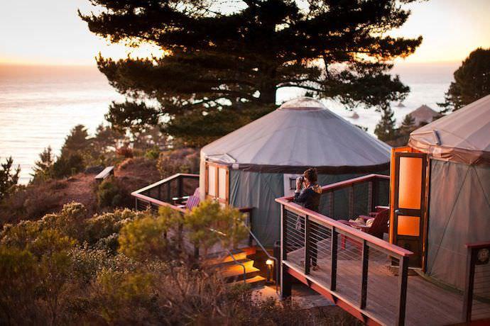 Treebones Resort Big Sur Glamping Yurt Tent
