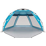 Easthills Outdoors Coastview Ultra 4-5 Person Family Sun Shelter Ultra Large Quick Setup Instant Anti UV Double Silver Coating Beach Tent with Extended Door & Window Pacific Blue