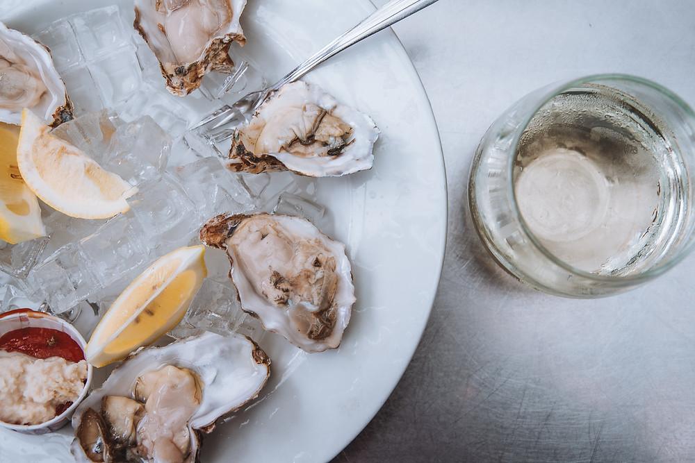 Oysters in Newport, Oregon