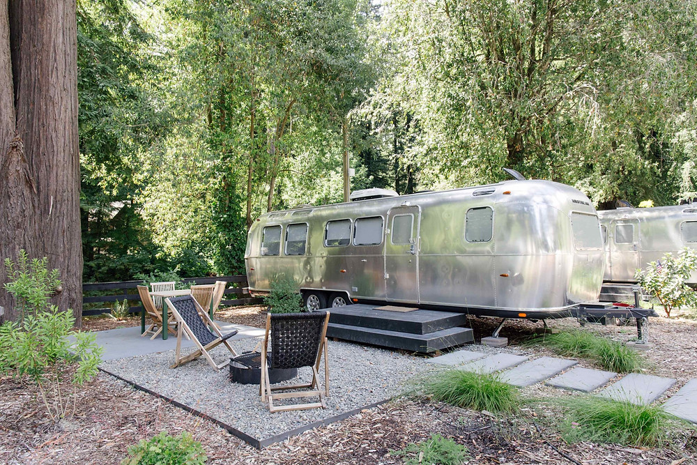 Autocamp RV set up in Russian River Sonoma County Glamping