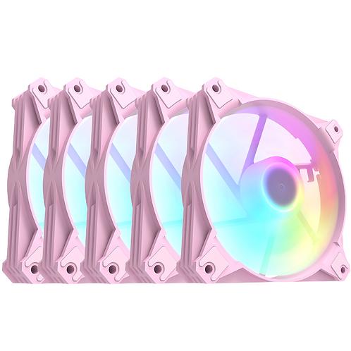 COOLER FAN MOTOSPEED HYRAX HCL605 5IN1 A-RGB PARA GABINETE PRETO
