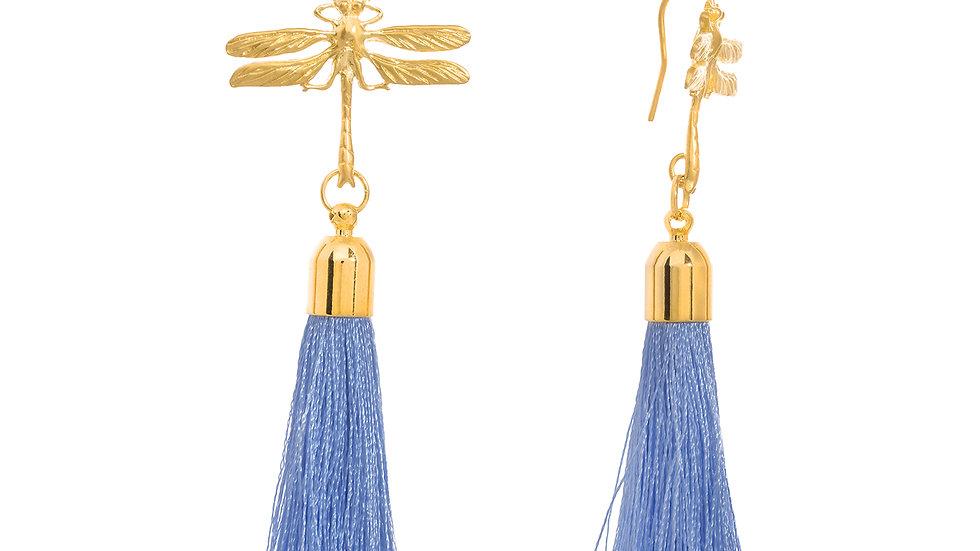 Dragonfly Tassel Earrings