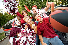 Group Of Excited Fans