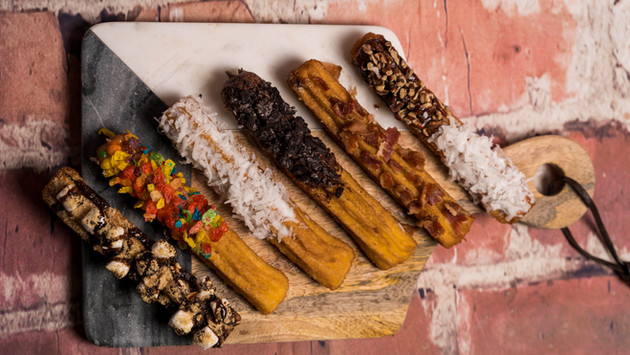 CHURROS WITH TOPPINGS