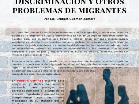 Boletín Informativo: Discriminación y otros problemas de migrantes