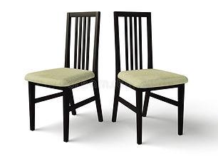 negro-de-madera-de-la-silla-con-un-asien