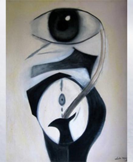 "Journey on Time I  Acrylic on Canvas  28""x30"""