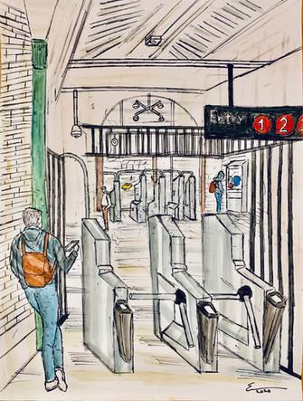 72nd Street Subway Station Interior