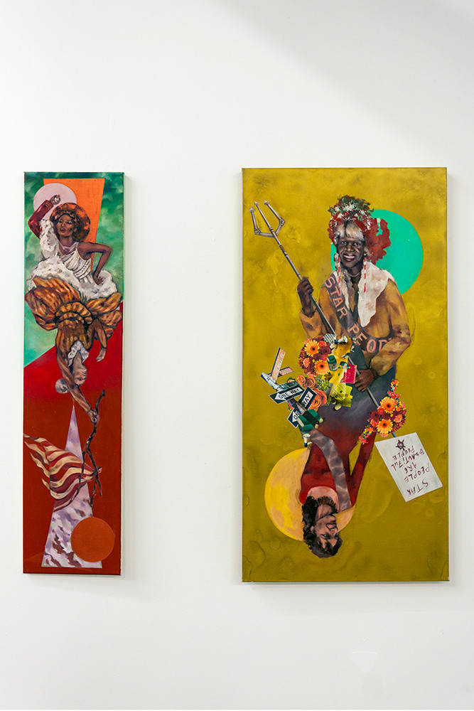 """(L) """"Cotton Queen"""", 2019 (R) """"STARR People"""", 2019"""