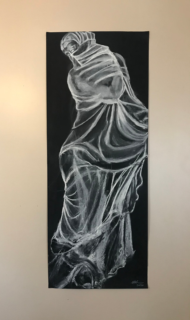Dancer (After Bronze Statuette of a Veiled and Masked Dancer, 300-200BCE)
