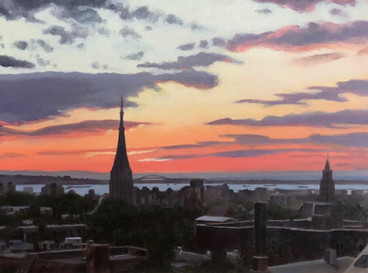 Sunset over Park Slope