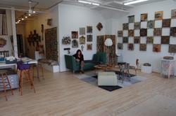 Mary Lee Cooper in her studio