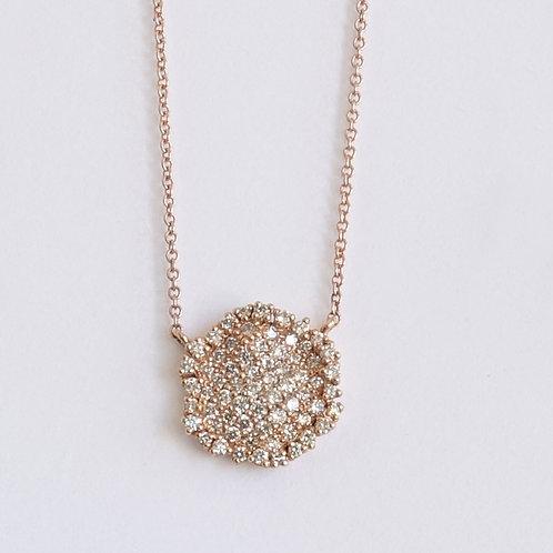 Diamond Pave Rose Gold Necklace