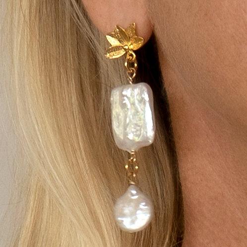 Pearl Gold Earring