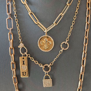 Diamond Gold Charms Chains Pendants