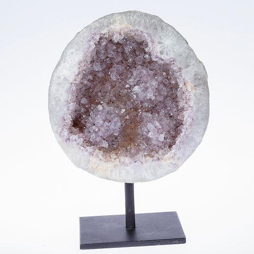 Amethyst Flower Geode on Stand