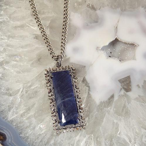 Midnight Blue Saphire Diamond Necklace
