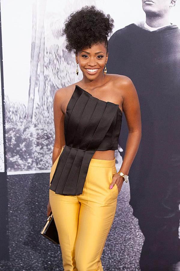 TeyonahParris on the red carpet