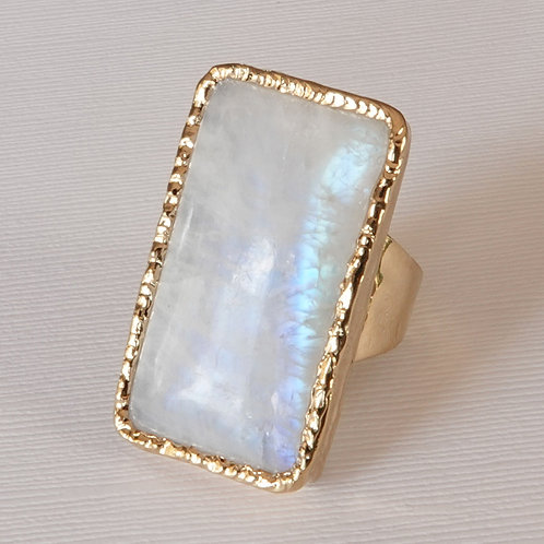 Moonstone Gold Statement Ring One of a Kind