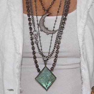 Sterling Pave Diamond Necklace