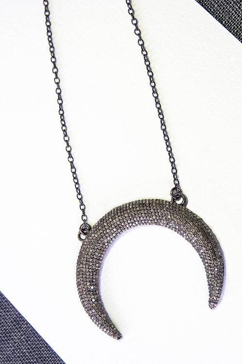 Diamond Crescent Mooon Pendant