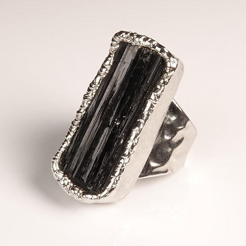 Black Tourmaline Statement Ring