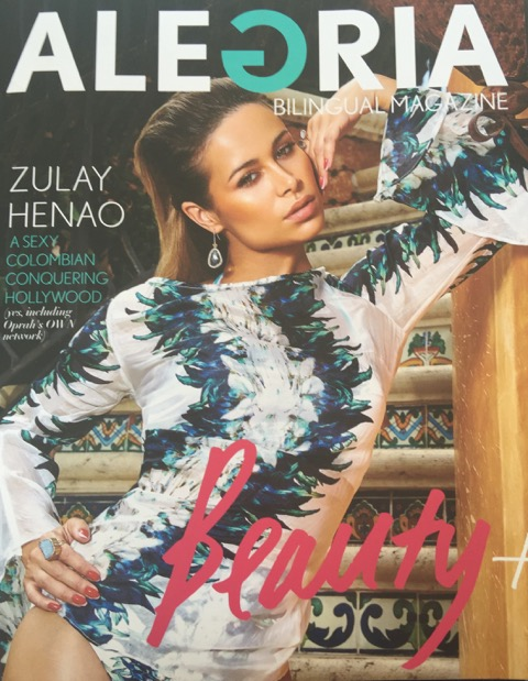 Actress Zulay HenaoAlegria Magazine