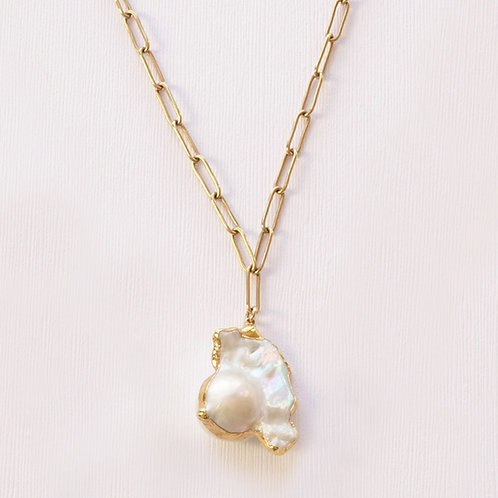 Pearl Clip Chain Necklace