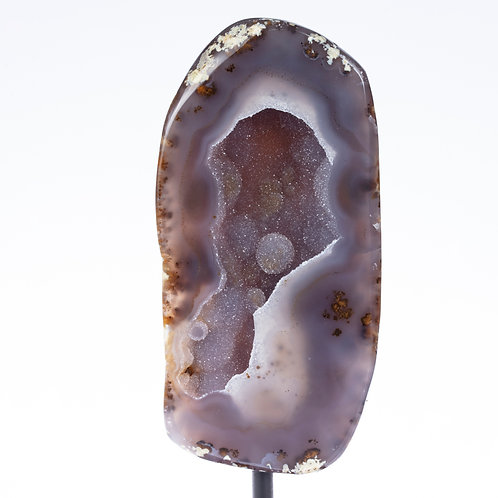 Agate Geode Half on Stand