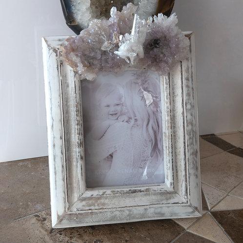 Photo Frame Amethyst Flower Quartz Photo Frame 5 x 7