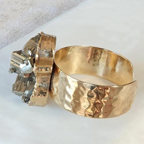 Pyrite Gold Cuff Natural
