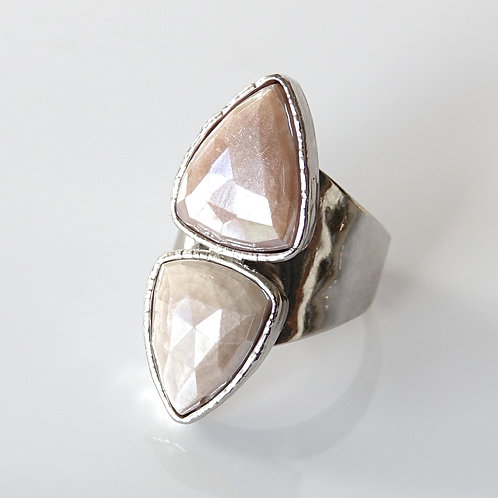 Mystic Moonstone Silver Ring