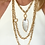 Thumbnail: Chunky Gold Hammered Link Chain Necklace