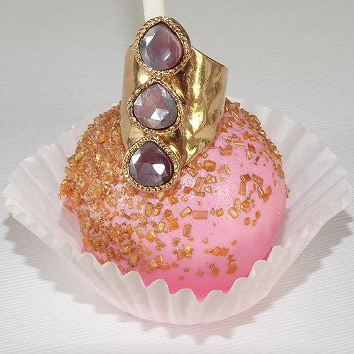 Pink Sapphire Gold Ring, Pink Sapphire, Sapphire Statement Ring