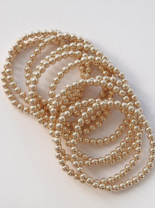 Gold Filled 14K Bead Stretch Bracelet