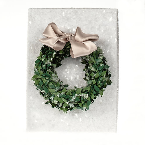 Holiday Wreath Sparkle Necklace Gift Box