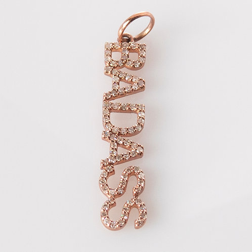14K Rose Gold Diamond Charm