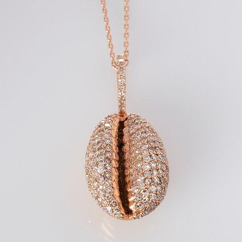 14K Diamond Shell Necklace