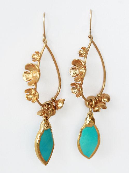 Turquoise Flower Earrings