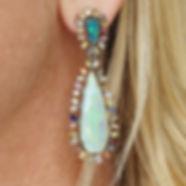 Krysia Renau Opal Topaz Earrings