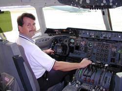 Capt Hill in DC10 Refueler    2005