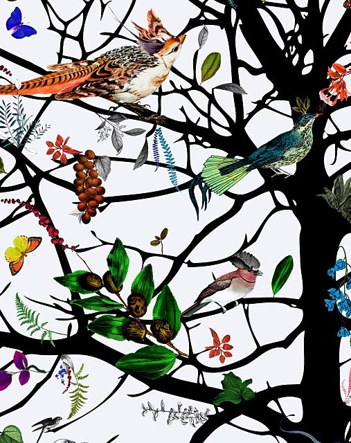 kristjana s williams tree of life designbehang vogels