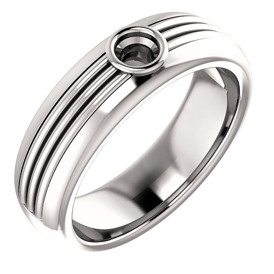 Lined Design Mens Ring